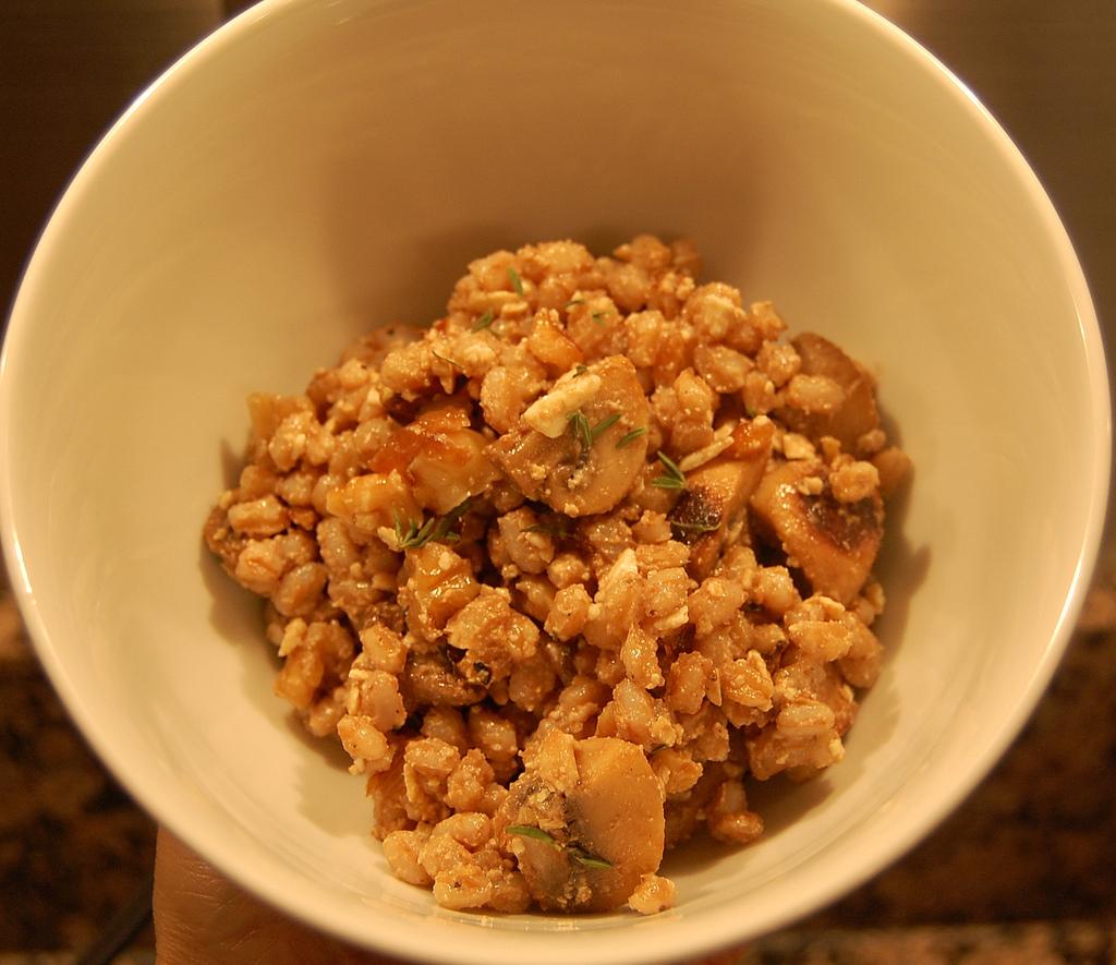 ... farro salad mushroom and thyme farro salad mushroom farro salad with