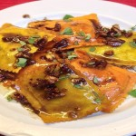 Pumpkin Ravioli with brown butter sauce by the fetching @alexandra90210