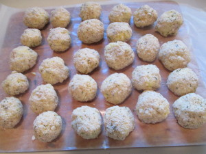 Rice Croquettes ready for frying.