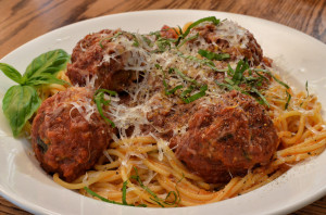 Mmm... spaghetti with meatballs